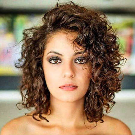 Curly Short Women Older Naturally Layered Curls