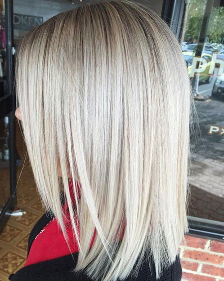 Blonde Length Bob Shoulder Medium Long Lob Layered