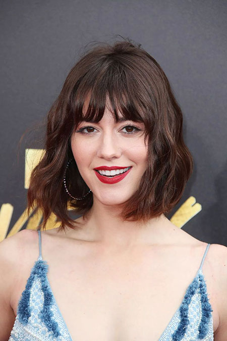 Bangs Bob Zooey Mary Elizabeth Alexa Spring Short Jones Felicity