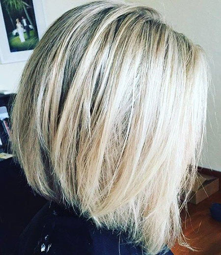 Bob Blonde Balayage Platinum Highlights Ash without