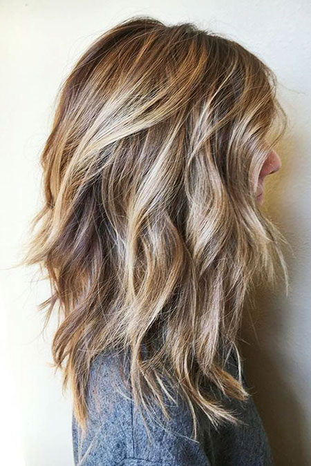 Highlights Long Length Brown Balayage Medium Layers