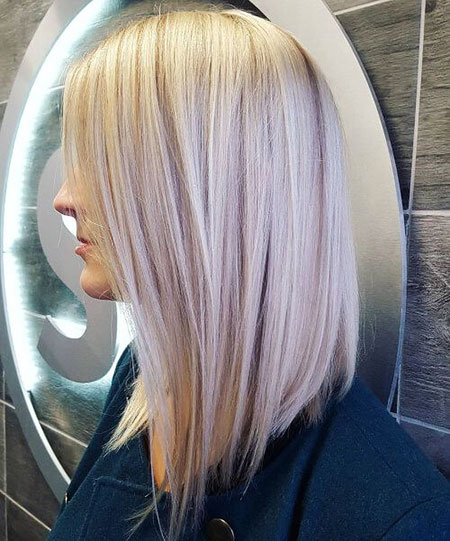 Blonde Bob Long Highlights Work Platinum Modern Lauren