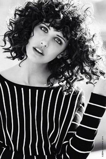 Curly Short Curls Bangs