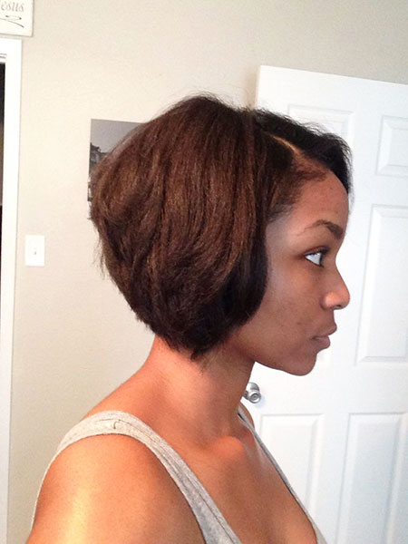 Short Bob American African Track Pixie Fast