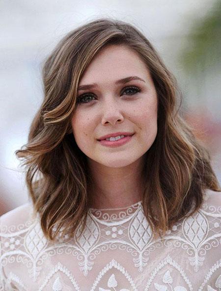 Round Olsen Medium Length Women Really Girls Faces