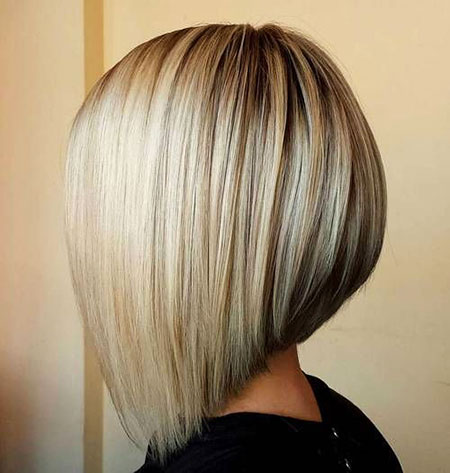 Bob Bobs Blonde Angled Stacked Marilyn Lowlights Lob Classic 40