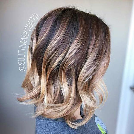 Balayage Brown Blonde Highlights Some Shoulder