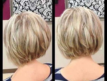 Bob Short Stacked Layered Inverted Bobs 204 203