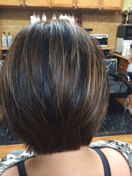 Bob Tapered Medium Layered Inverted Highlights Cute