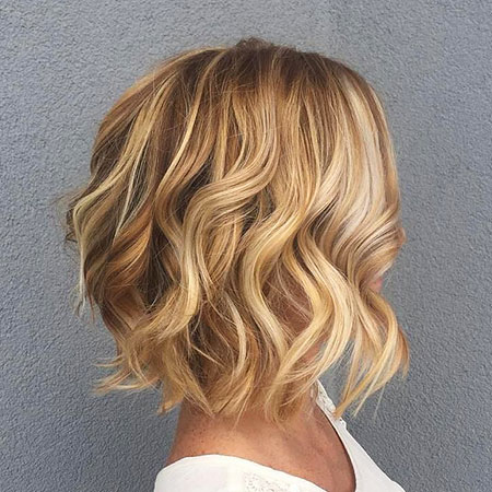 Blonde Wavy Bob Ombre Choppy Balayage Texture Spiral Loose