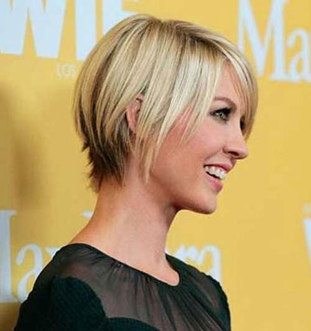 Short Cropped Years Women Woman Long Line Jenna Elfman Bob Age