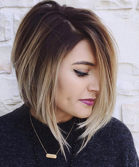 Balayage Bob Blonde Young Short Shades Ombre Modern