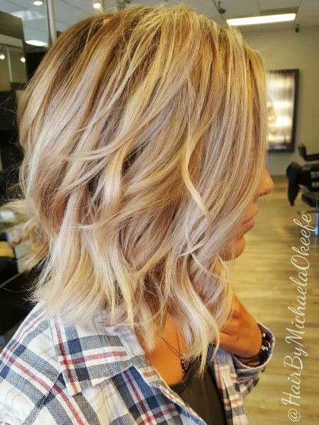 Blonde Highlights Balayage Short Ombre Lowlights