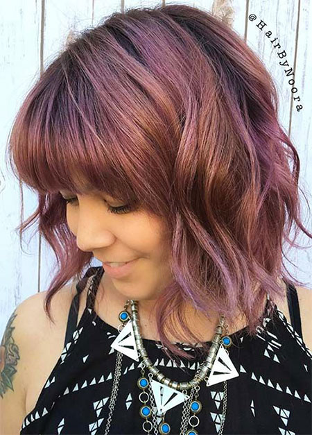 Bob Short Bangs Teen Some Haare Brown 55 50