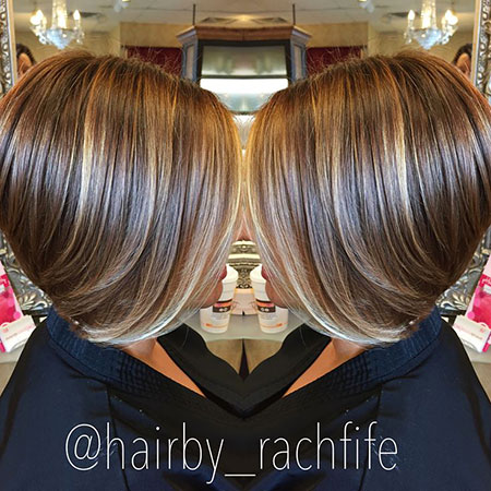 Highlights Bob Short Blonde Balayage Rachel Lowlights