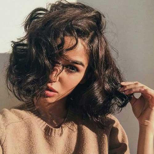 Curly Hair Bob