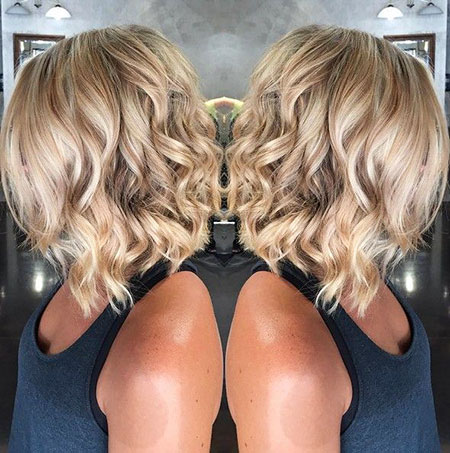 Shoulder Length Angled Bob Hairtyle, Blonde Bob Hair Angled