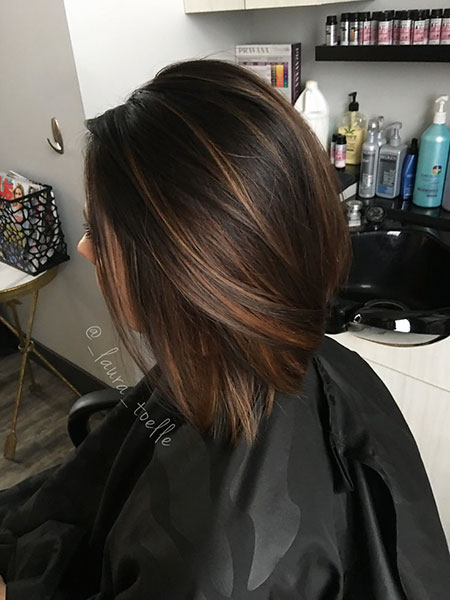 Brown Highlights Hair Caramel