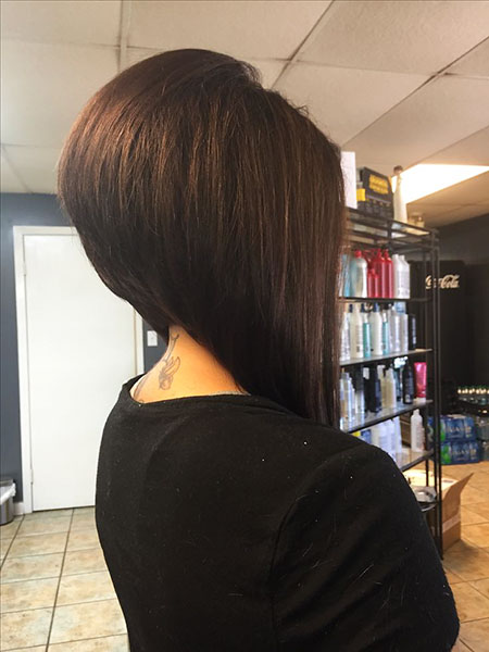 Long Stacked Bob Hairtyle, Bob Long Stacked Short