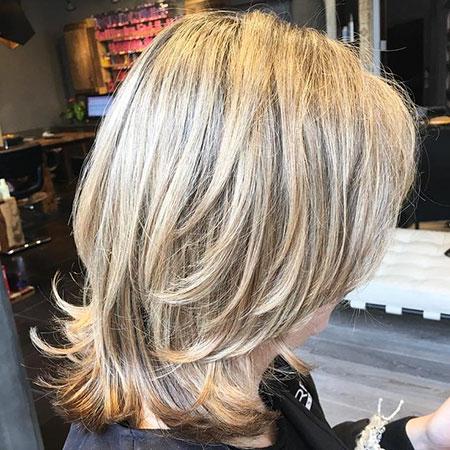 Medium Length Layered Haircut, Layered Balayage Medium Length