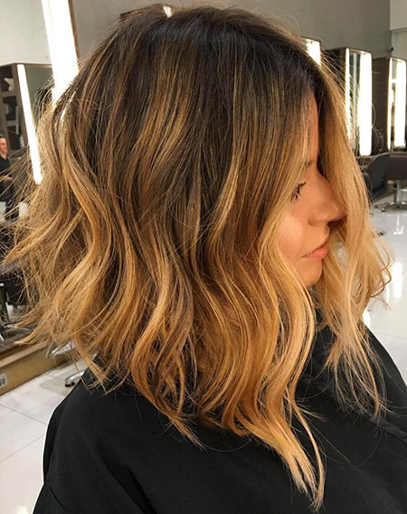 Lob Length Balayage Hair