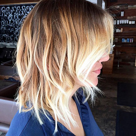 Hair Choppy Ombre Blonde