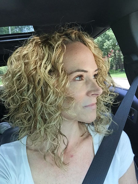 Curly Angled Bob Length