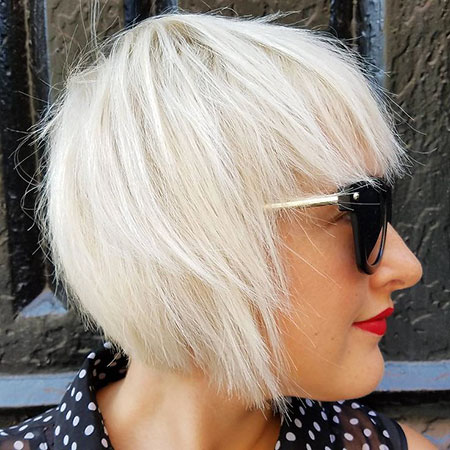 Platinum Blonde Hair Color, Blonde Bob Fine Layered
