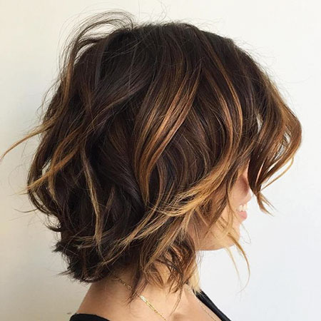 Brown Caramel Choppy Balayage