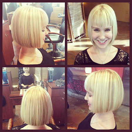 Bob Hair Fringe Blonde
