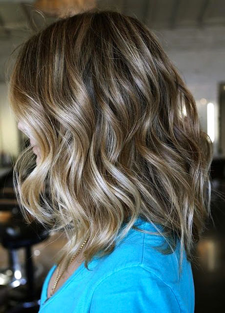 Bronde Hair Color, Hair Length Medium Bob