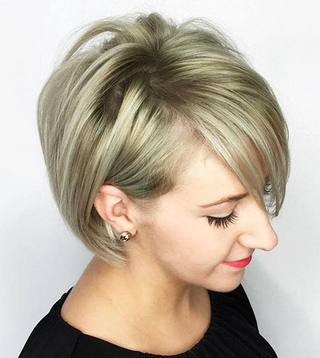 Straight Hair, Pixie Blonde Bob Thin