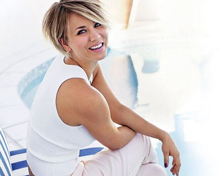 Kaley Cuoco Short Hair, Bob Fine 70 Mid
