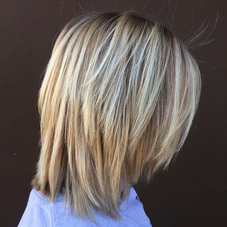 Chopped Hairtyle, Bob Blonde Balayage Chopped
