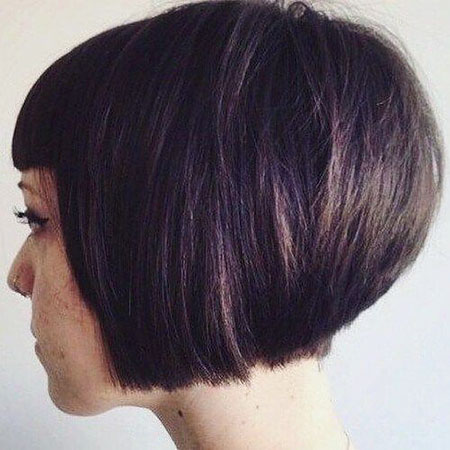 Layered Haircut, Bob Stacked Length Chin