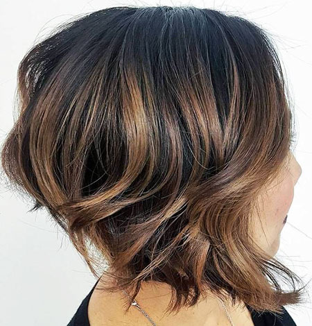 Balayage Brown Blonde Bob