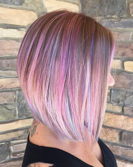 Bob Purple Highlights Hair