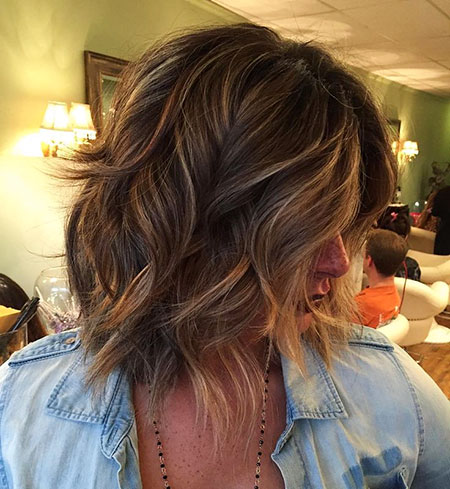 Bob Shaggy Layered Brown