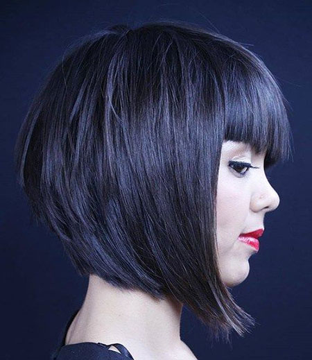18 Layered Bob Hairstyles with Fringe | Bob Haircut and Hairstyle Ideas