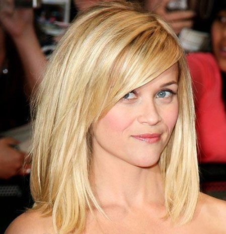 Long Bob Haircuts with Side Bangs, Reese Hair Long Bangs