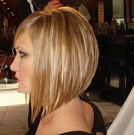 Medium Length Angled Bob Hairtyles, Bob Blonde Haircuts Angled