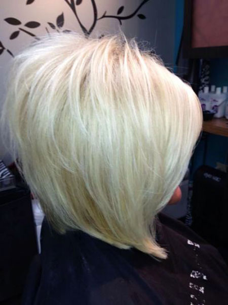 Medium Stacked Bob Hairtyles, Bob Blonde Long Stacked