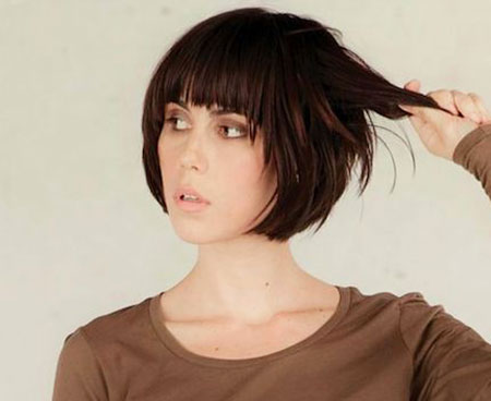 Short Bob with Fringe, Short Bob Bangs Hair