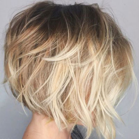 Bob Blonde Hair Choppy