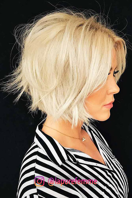 Bob Blonde Hair Lob