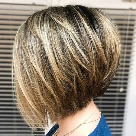 Bob Layered Balayage Layers