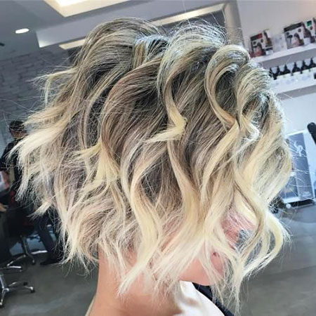 Blonde Hair Color Wavy
