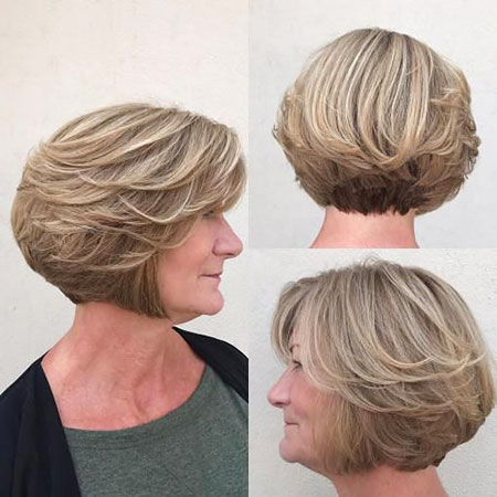 Layered Bob Older Women