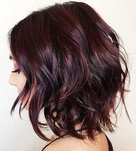 Burgundy Black Hair Balayage