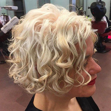 Blonde Hair Bob Curly